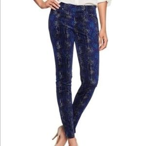 GAP 1969 Blue Snake Print Corduroy Legging Jean